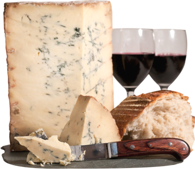 Stilton cheese with red wine